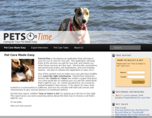 PetsOnTime website