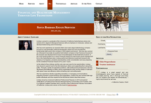 Santa Barbara Estate Services website